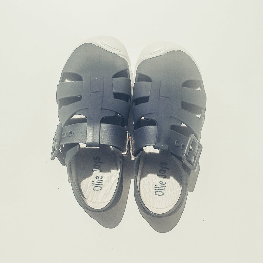 Jelly Sandals - Navy - Ollie Jays