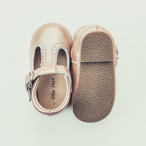 Rosé T-bar Hard Sole - Ollie Jays