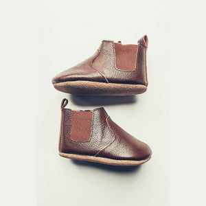 Chocolate Chelsea Boot - Soft Sole - Ollie Jays