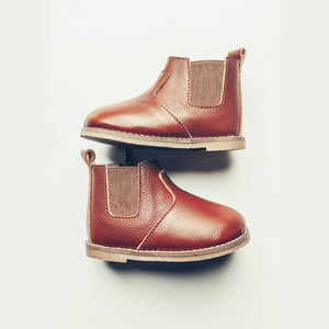 Chestnut Chelsea Boot - Hard Sole - Ollie Jays