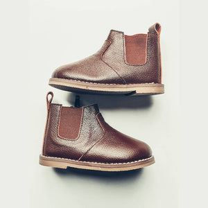 Chocolate Chelsea Boot - Hard Sole - Ollie Jays