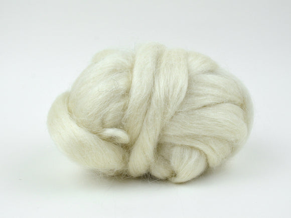 Natural White Mohair Roving