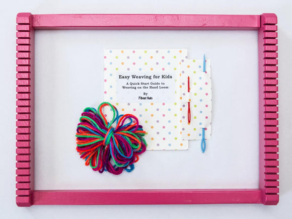 Kid's Weaving Loom Kit - Pink Loom