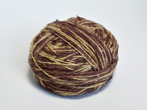 Silk Viscose Yarn Brown - Center Pull Ball