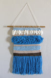 Wall Art Weaving Kit - River Rise (Blue/ Brown Colors)