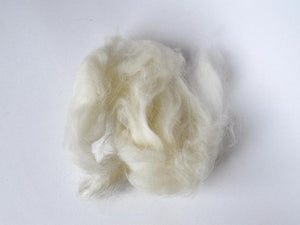Natural White Wool Fiber