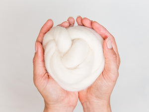 Natural White Wool Roving