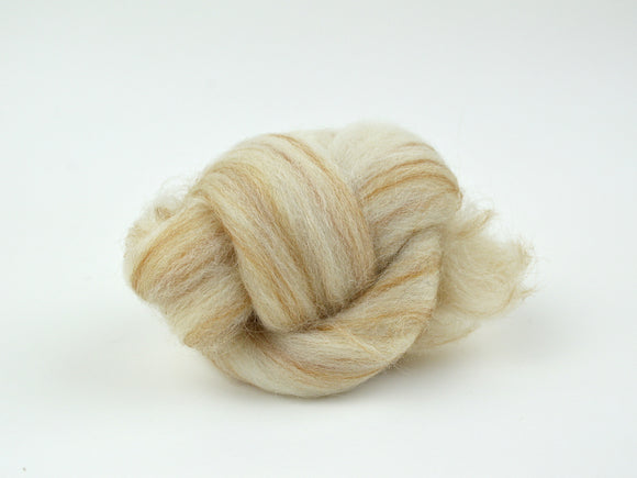 Tan Blended Wool Roving