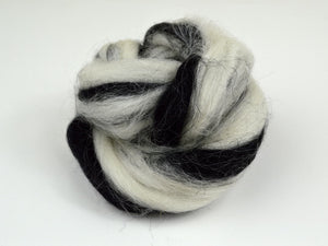 Zebra Striped Wool Roving
