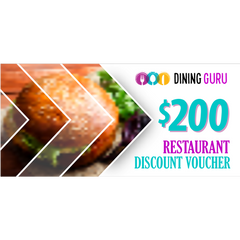 $200 Restaurant Discount Voucher Giveaway