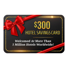 $300 Hotel Savings Card Giveaway