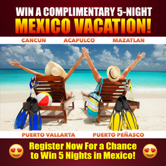 5-Night Mexico Beachfront Vacation Giveaway