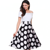 Charming Printed Skirt Off shoulder Party Dress