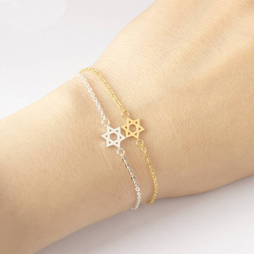 Star Of David Charm Bracelet - Couture Look