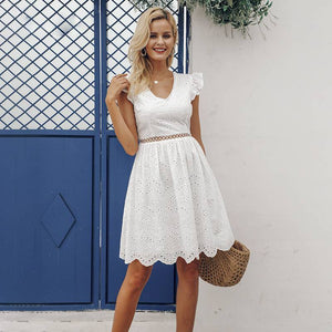 Bubbly Aella White Lace Vintage Dress