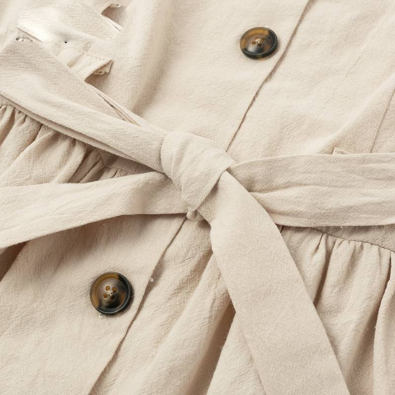 70s Chic Buttoned Dress Shirt V-neck Summer Dress - Couture Look