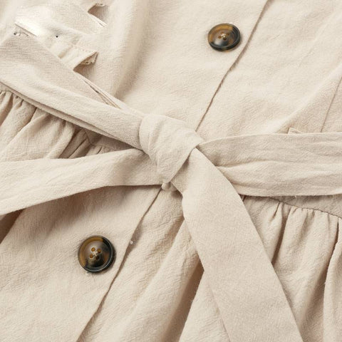 Image of 70s Chic Buttoned Dress Shirt V-neck Summer Dress