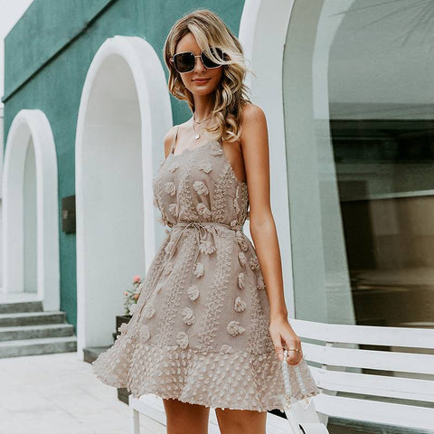 Image of Carlotta Ruffles Knee-Length Mini Sundress - Couture Look