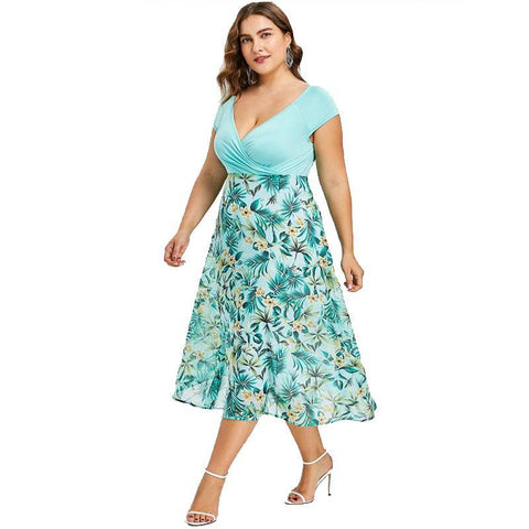 Image of Collete Bohemian Plus Size Casual Dress - Couture Look