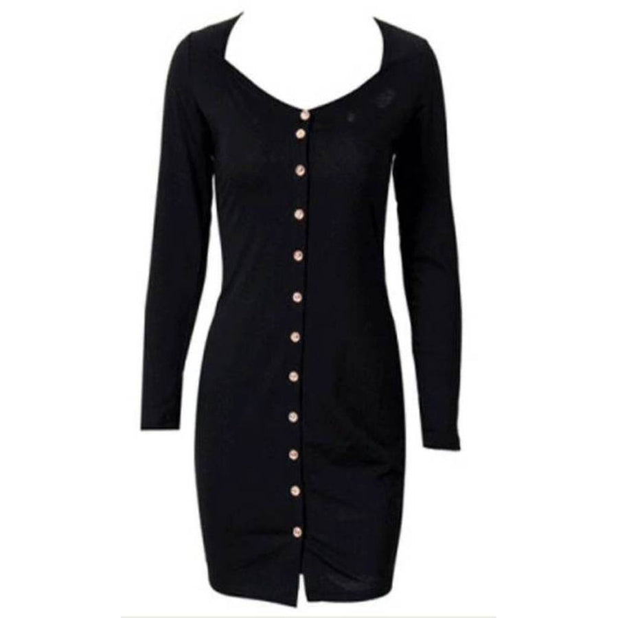 Fashion Long Sleeve Knit Bodycon - Couture Look