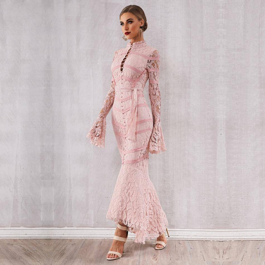 Made for Elegant Lace Mermaid Maxi Dress - Couture Look