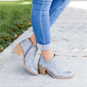 Chic Mama Retro High Heel Ankle Boots