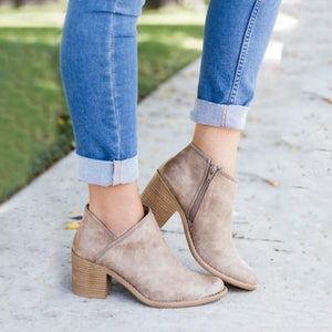 Chic Mama Retro High Heel Ankle Boots - Couture Look