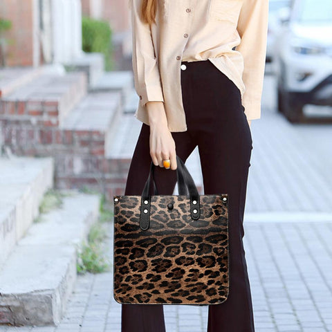 Widest Leopard Print Tote Handbag