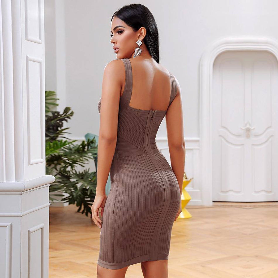 Bandage Sexy Sleeveless Club Dress - Couture Look