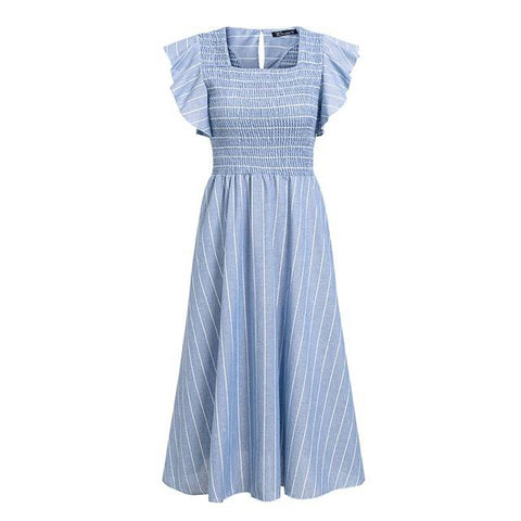 Image of Striped Cotton Candy Elegant Summer Dress