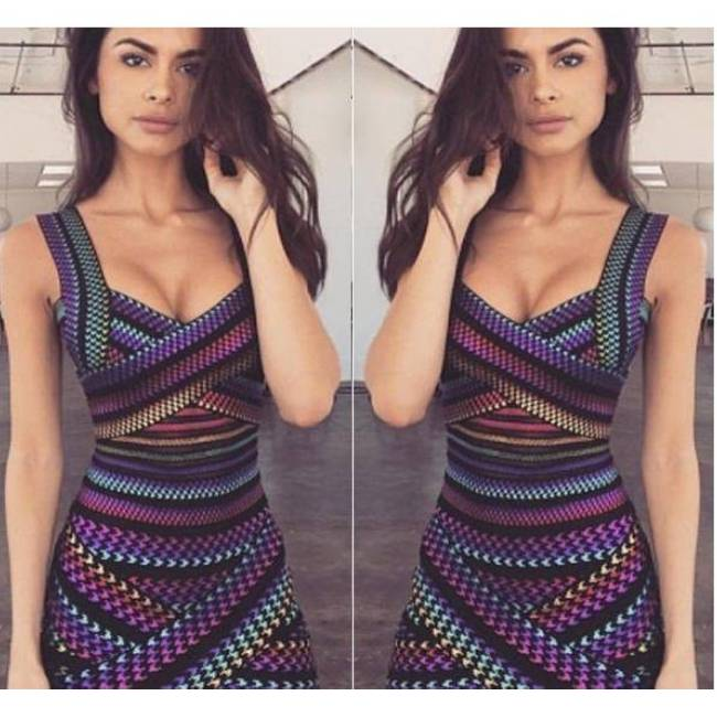 Sexy Criss Cross Bodycon Bandage Dress