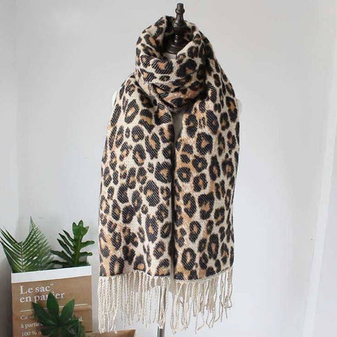 Lyndy Leopard Winter Blanket Scarf - Couture Look