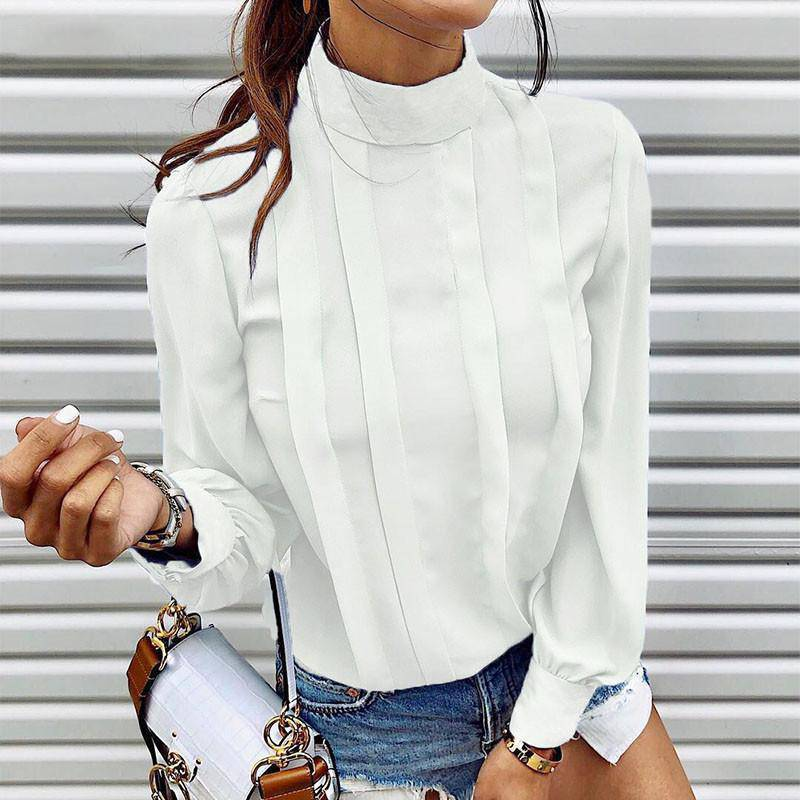 Turtleneck Long Sleeve Blouse - Couture Look