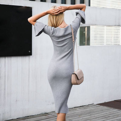 Captivating Carmel Sweater Dress - Couture Look