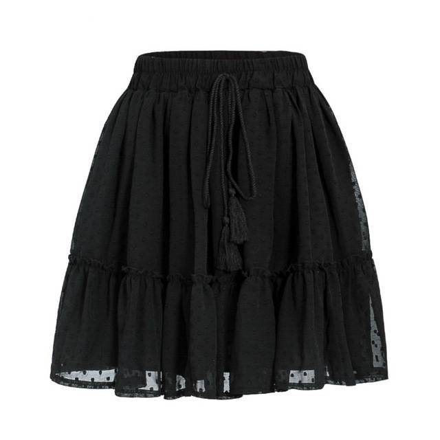 Casual Polka Dot Ruffles  High Waist Skirt - Couture Look