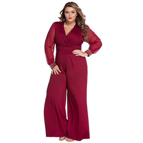 Set On Fire Overall Plus Size Jumpsuit - Couture Look