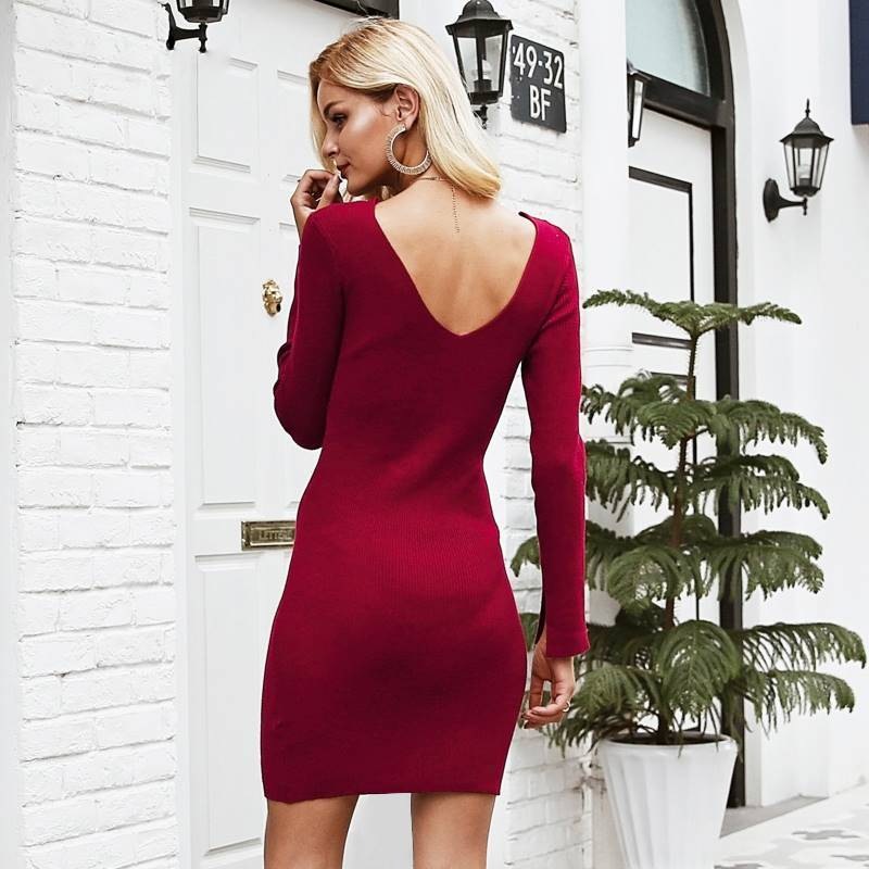 Sultry Sandra Knitted Sweater Dress - Couture Look