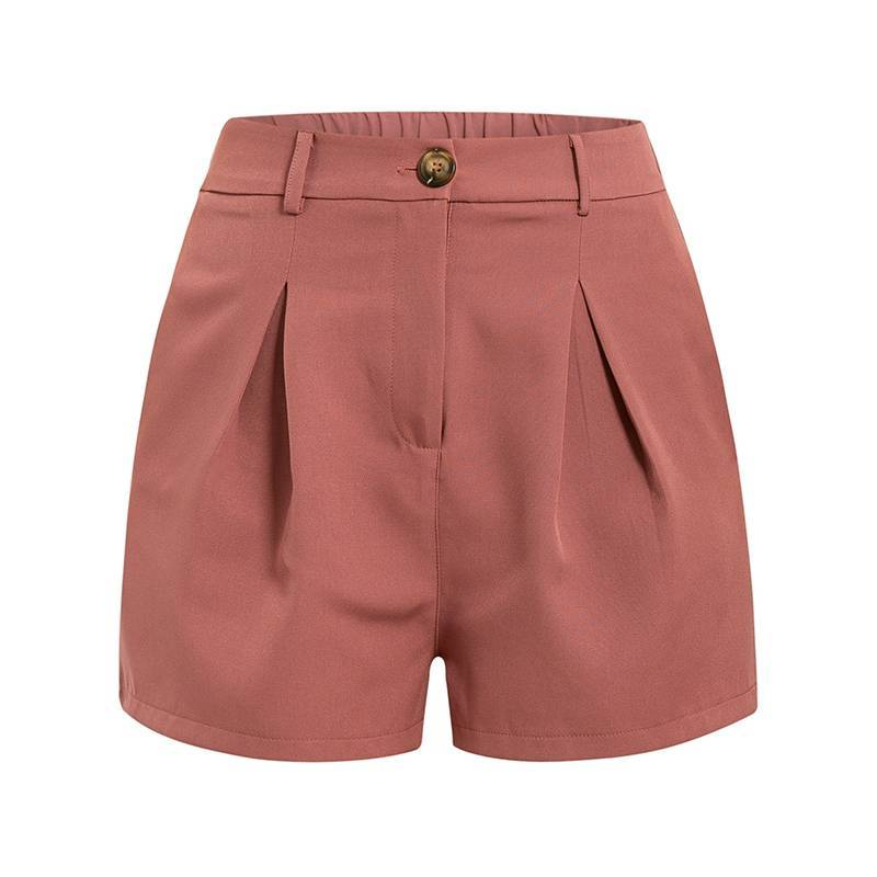 Casual Sash Waist Blazer Shorts - Couture Look