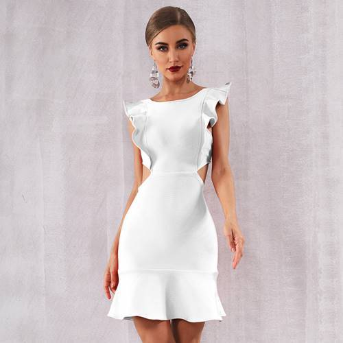 Hypnotizing Angel Mini Club Party Dress - Couture Look