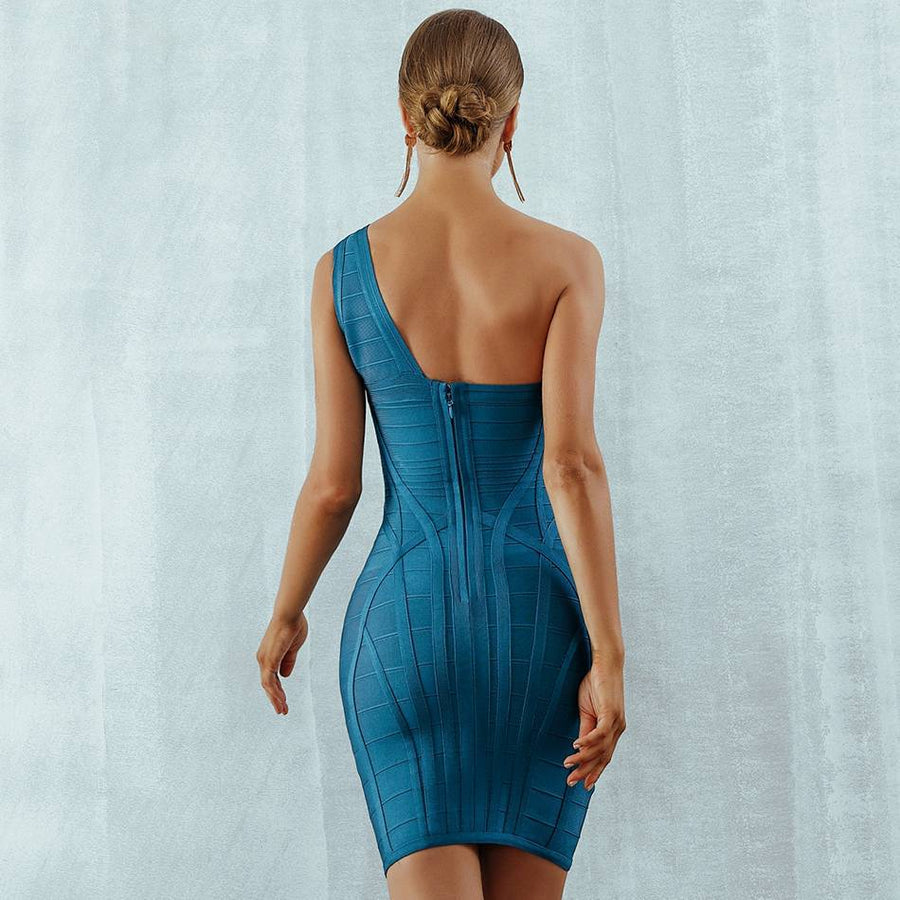 Lush One Shoulder Bandage Party Dress