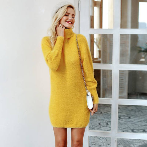 Olivia Moment Latern-Sleeved Sweater Dress - Couture Look