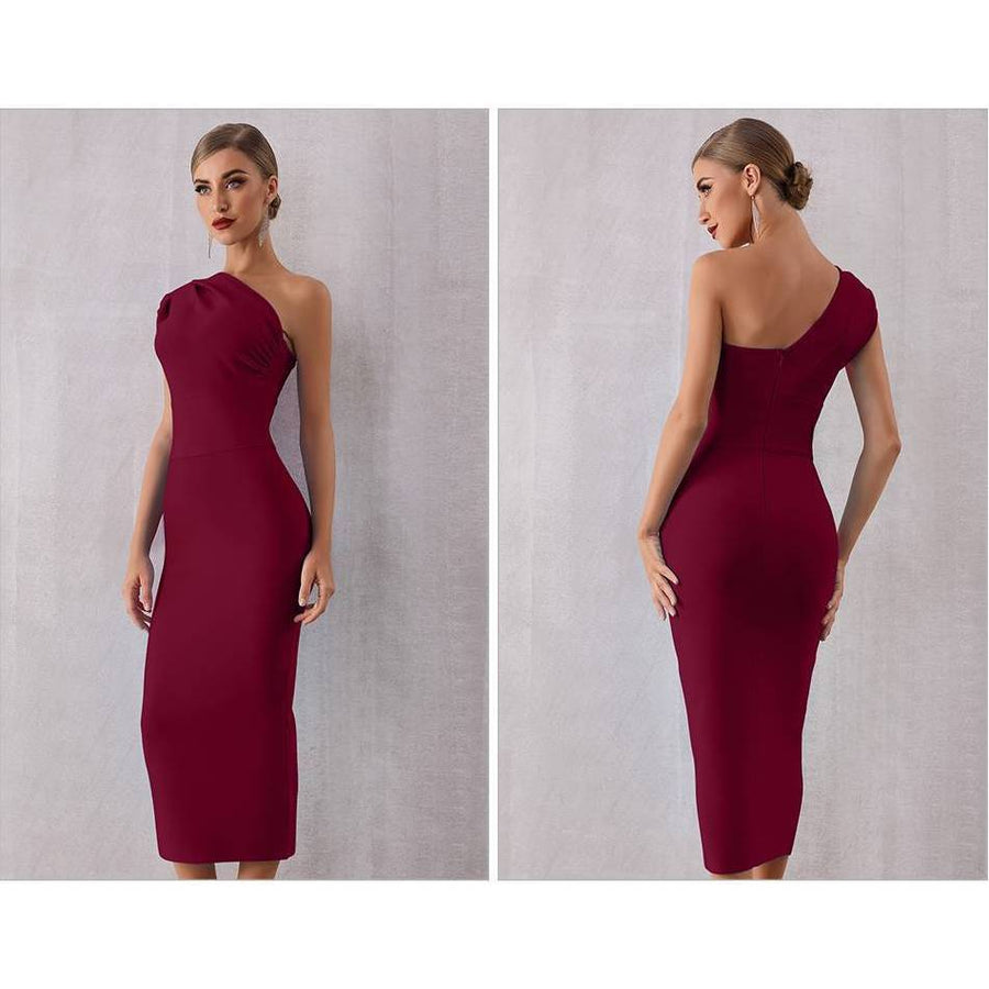 Elegant One Shoulder Bandage Sexy Dress - Couture Look