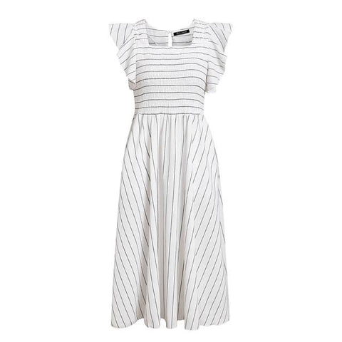 Striped Cotton Candy Elegant Summer Dress