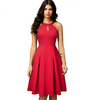 Chic Vintage Casual Haltered Flare Dress