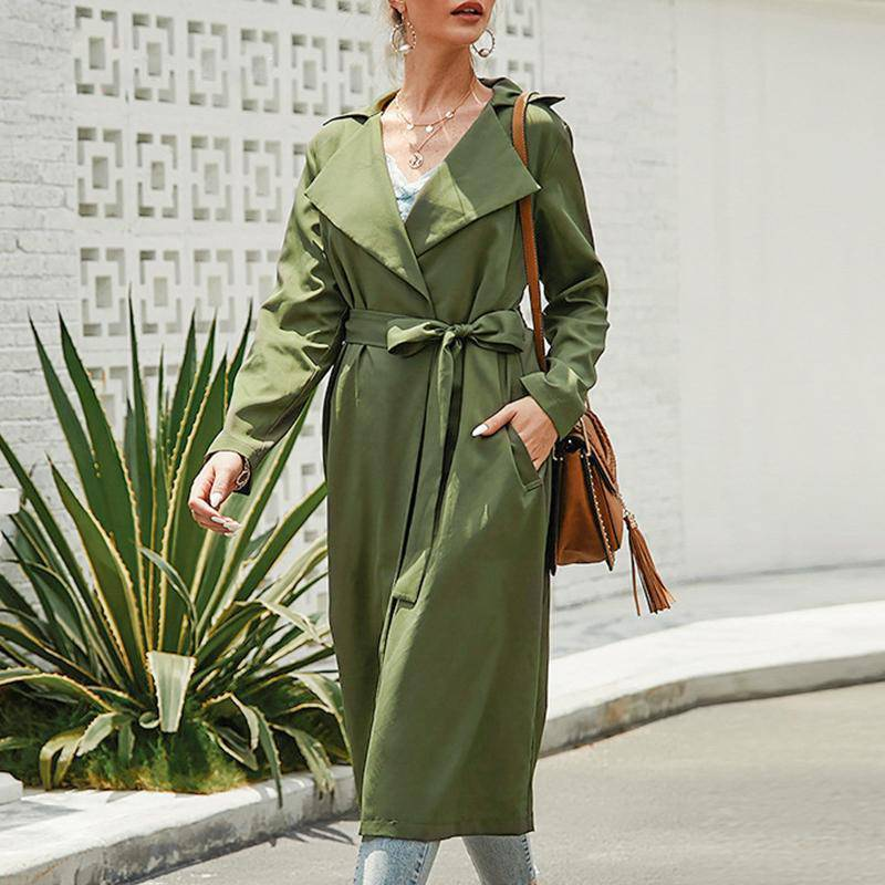 My Babe Feminine Trench Long Coat - Couture Look