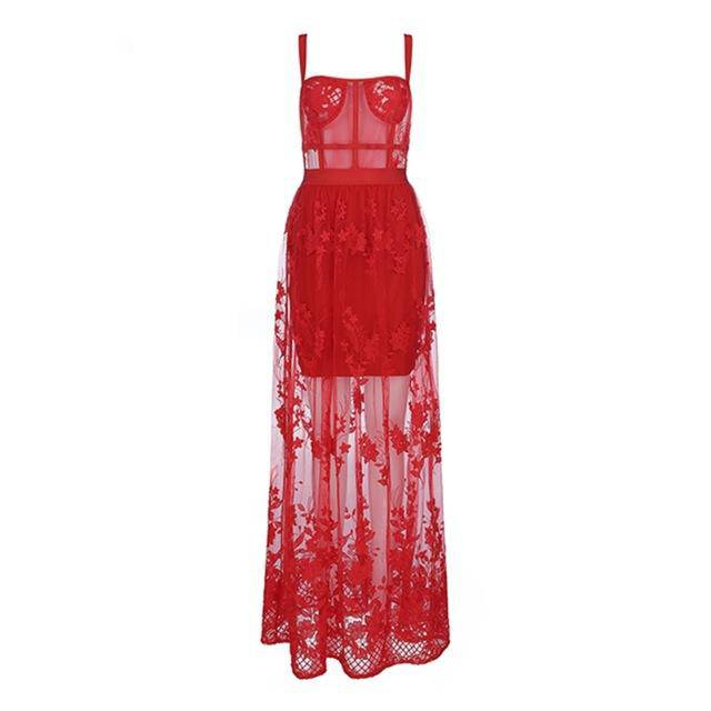Love Me Better Sexy Red Bandage Maxi Dress - Couture Look