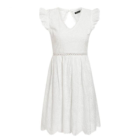 Bubbly Aella White Lace Vintage Dress - Couture Look