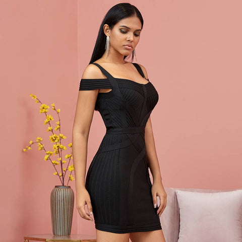 Flirtatious Off-Shoulder Bandage Bodycon Dress