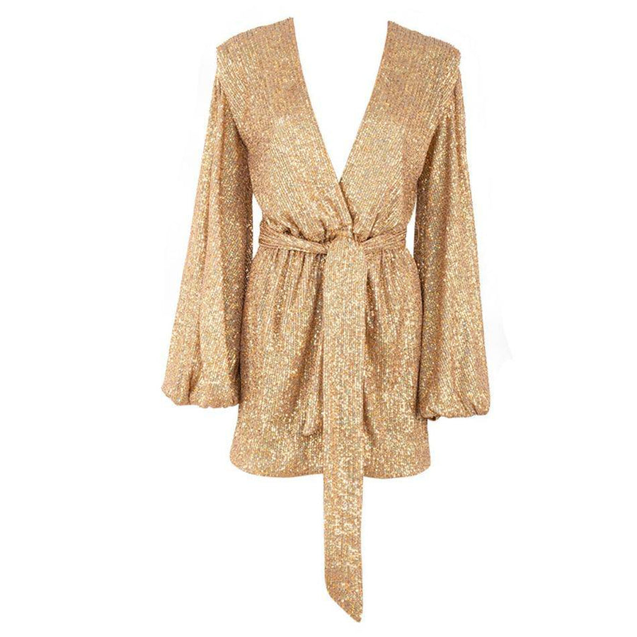 Glitter and Gold Cocktail Dress - Couture Look