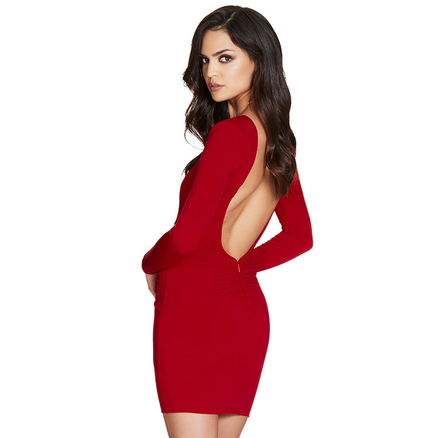 Backless Sexy Mini Dress - Couture Look